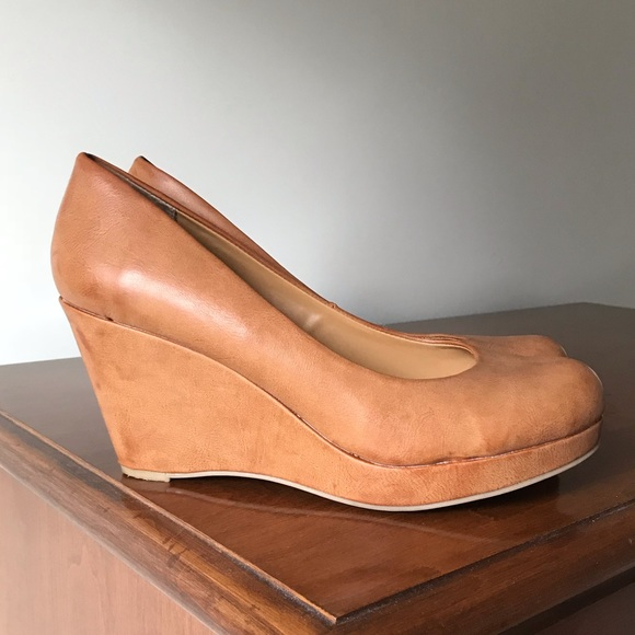 0418340cd8e a.n.a Shoes - A.N.A. Caramel Wedge Pumps